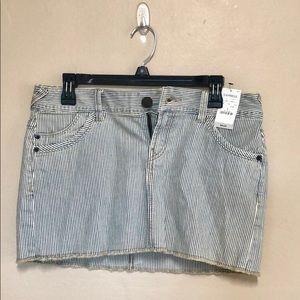 Express • pinstriped jean skirt